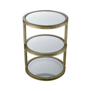Stacked Gold Leaf Side Table