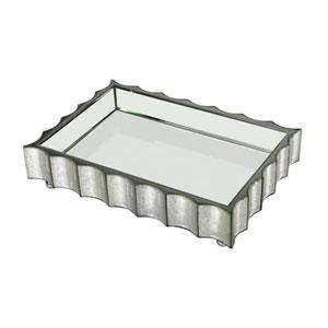 Small Scalloped Edge Mirror Tray
