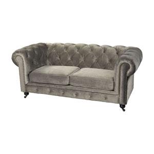 Gypsy Grey Seater Velvet Sofa