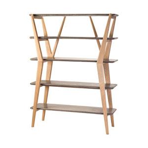 Twigs Concrete and Natural Oak Woodtone Shelves Shelves