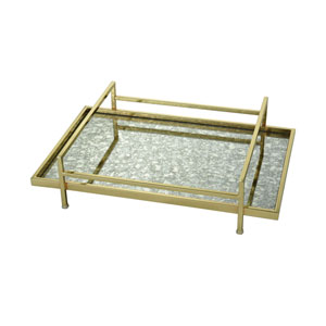 Marlborough Gold and Antique Mirror Tray
