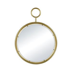 Minos Round Gold Plate Wall Mirror