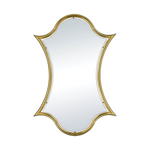 Minos Barbed Gold Plate Wall Mirror