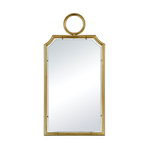 Minos Cusped Gold Plate Wall Mirror