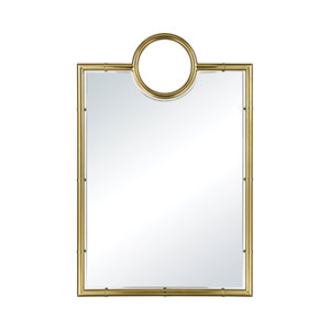 Minos Rectangular Gold Pate Wall Mirror