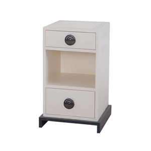 Horst Cappuccino Foam and Antique Smoke Small Bedside Table