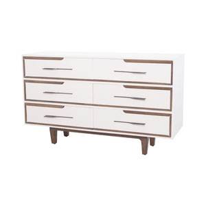 Hendron Cappuccino Foam and Heritage Gray 6 Drawer Chest