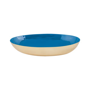 Argos Gold and Royal Blue Oval Bowl