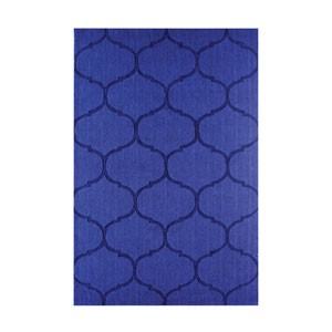 Dash Blue Handwoven Wool Rug 3x5