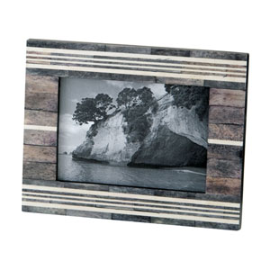 Horn and Bone Grey and White 4x6 Photo Frame