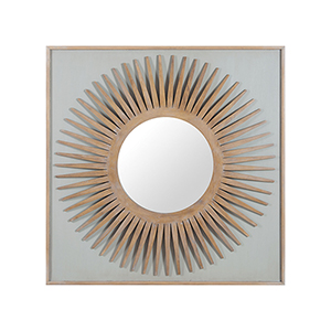 Manor Artisan Dark Stain Starburst Mirror