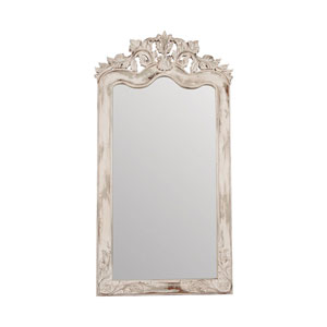 Crossroads Florentine European White Floor Mirror