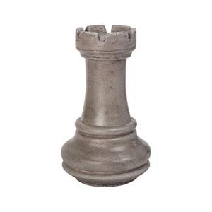 Zwischenzug Waxed Concrete Rook Chess Sculpture