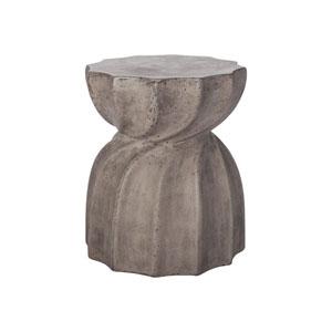 Industrial Warp Waxed Concrete Side Table