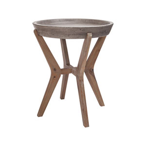 Tonga Waxed Concrete Side Table
