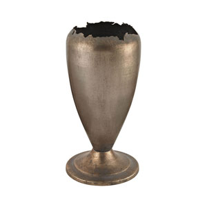 Natured Aged Jagged Mouth Metal Vase
