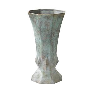 Geometric Patina Vase