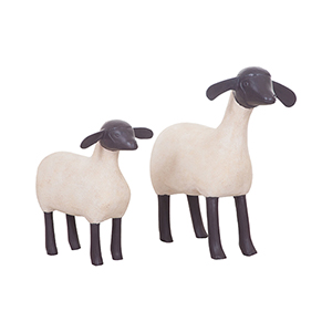 Wooden Sheep Ornamental Accessory