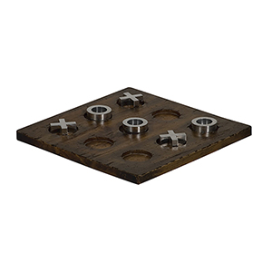 Brown Tic-Tac-Toe Game Board
