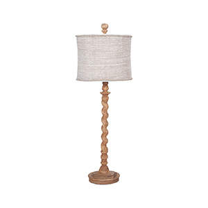 Barley Twist Honey Oak One-Light Spindle Lamp