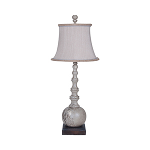 Marrakesh Vintage Gris One-Light Spindle Lamp