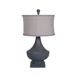 Vintage Heritage Grey Stain One-Light Table Lamp