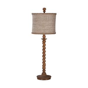 Barley Twist Honey Oak One-Light Spindle Table Lamp