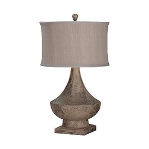 Vintage Bleu Gris One-Light Lamp