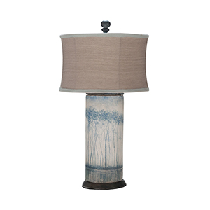 Signature White One-Light Terra Cotta Cylinder Lamp