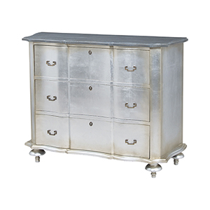 Antique Silver Leaf Petite Duchess Chest