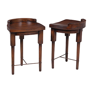 European Farmhouse Brown Counter Stool