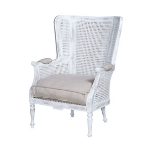 Chelsea Front Porch White Wing Back Chair