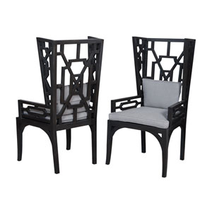 Manor Gray Wing Chairs - Set of 2