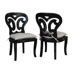 Artifacts Black Side Chairs - Set of 2