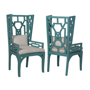 Manor Teal Side Chairs - Set of 2