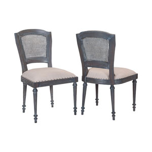 Chelsea Antique Smoke Side Chairs - Set of 2