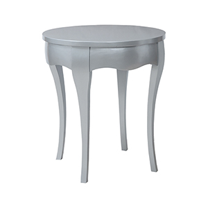 Manor Antiqued Silver Leaf Accent Table