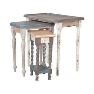 Artifacts Distressed Collage Nesting Tables