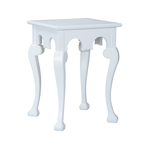 Manor Cabriole Grain De Bois Blanc Side Table
