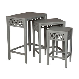 Manor Gray Nesting Tables- Set of 3