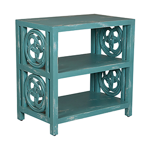Carrick Bend Green Side Table