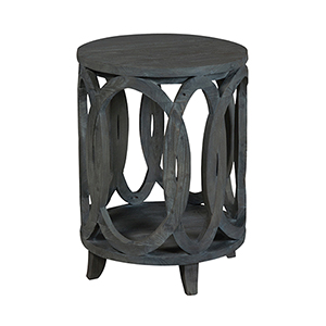 Interlocking Circles Gray Accent Table