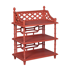 Manor Tangerine Bookcase