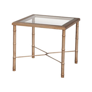 Bamboo Champagne Gold Side Table