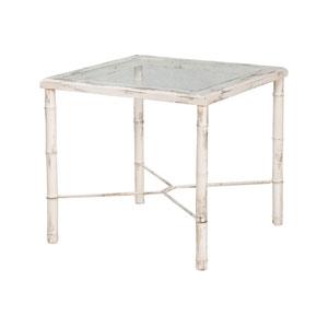 Bamboo European White Side Table