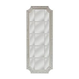Long Edwardian Silver Rectangle Mirror