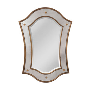 Cornell Mayan Gold Arched Mirror
