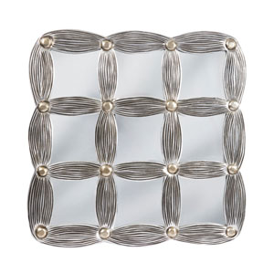 Silvana Antique Silver and Gold Wall Art Square Mirror