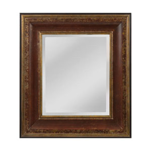 OReiley Aged Walnut and Roman Gold Square Mirror