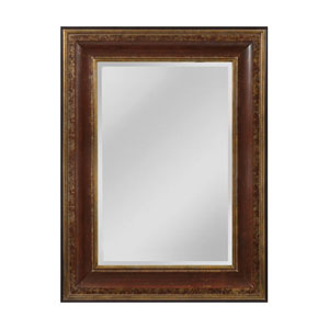 OReiley Aged Walnut and Roman Gold Rectangle Mirror